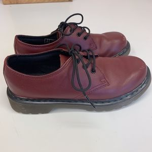 Doc Marten Youth EVERLEY Oxblood Red Lace Up Sheos